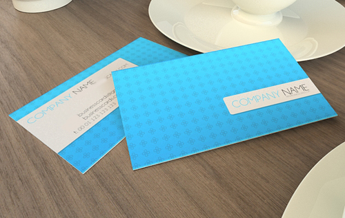 Blue Psd Business Cards