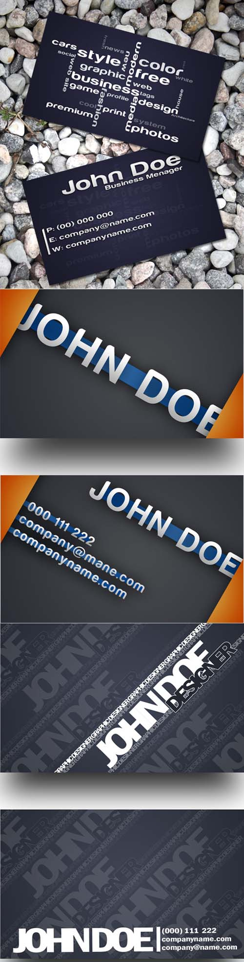 Business Card for Designers Psd Templates Pack