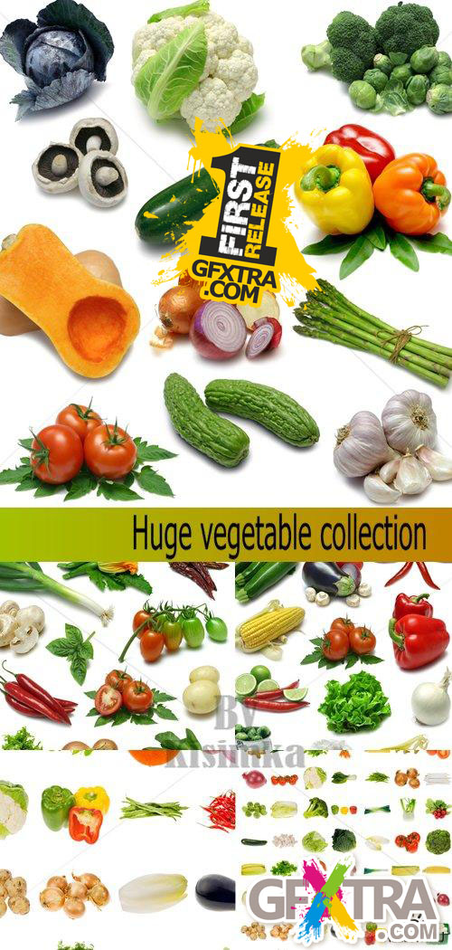 Stock Photo: Huge Vegetable Collection