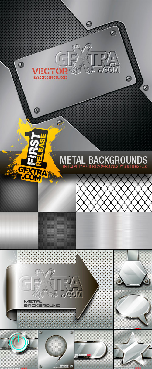 Amazing SS - Metal Backgrounds, 15xEPS
