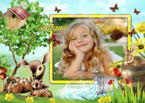 Children frame for Photoshop - Wonderful Time
