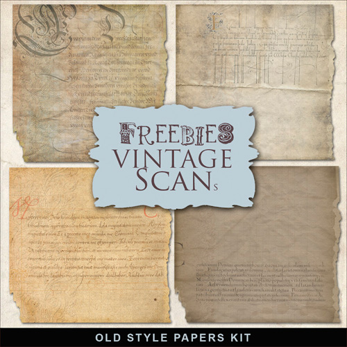 Textures - Old Style paper liners - Typographic Text Backgrounds