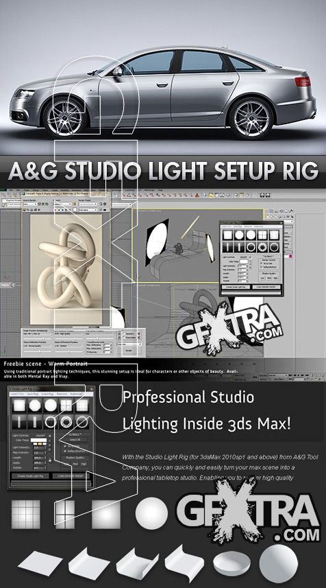Studio Light Setup Rig for 3DS Max