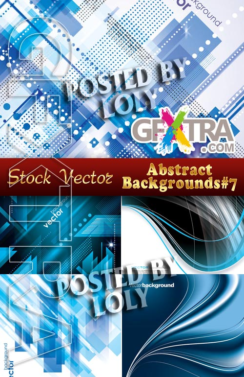 Vector Abstract Backgrounds #7 - Stock Vector