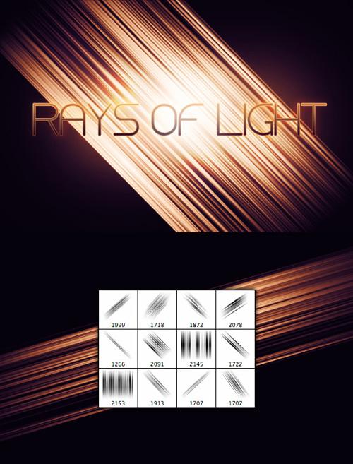 Rays of Light Photoshop Brush Set