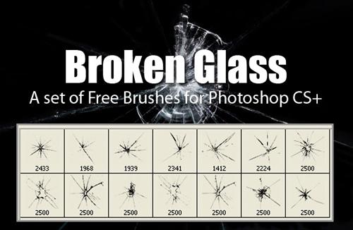 Broken Glass Brushes Set