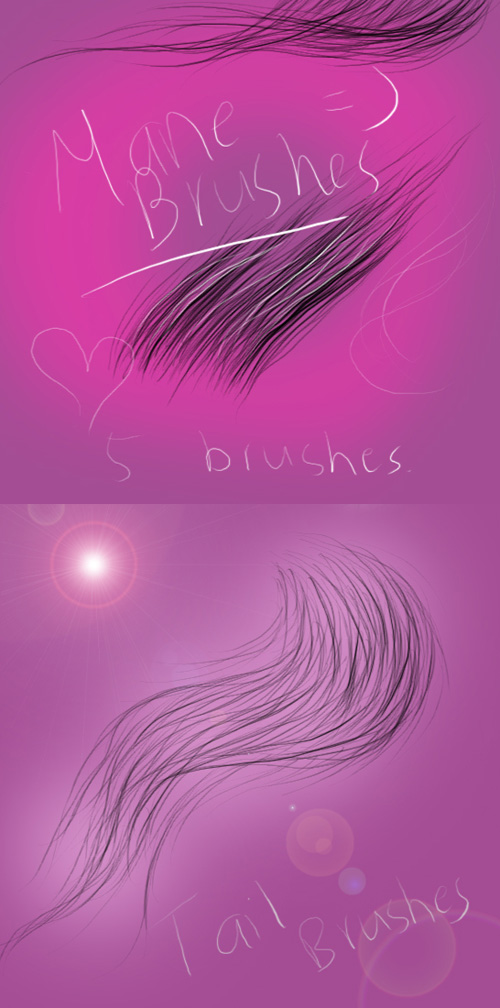 Tail and Mane Brushes Set