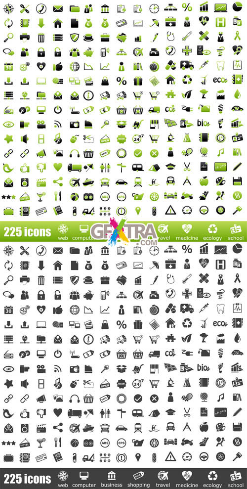 Mega Icons Vector Collection - 450 Elements