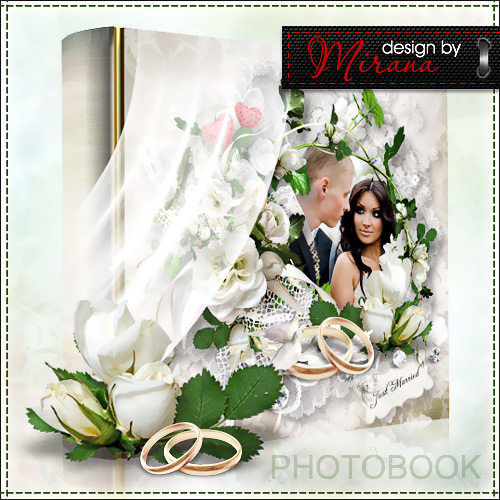 Template wedding photo books - Just Married