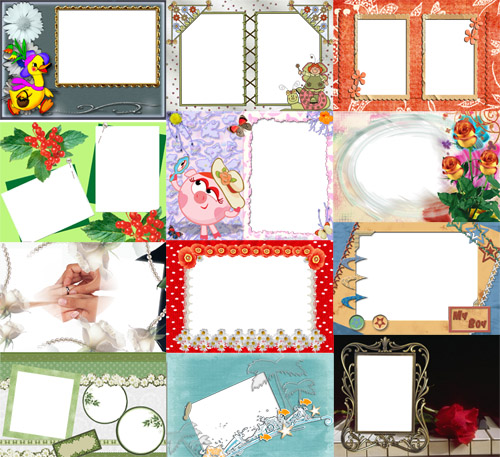 Collection of Spring Photo frames pack 36