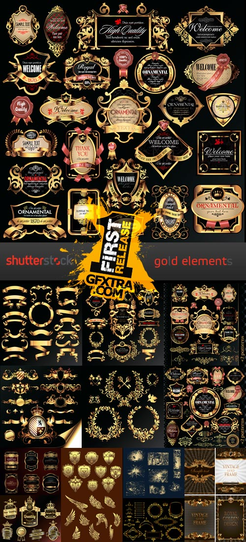 Amazing SS - Gold Elements, 25xEPS