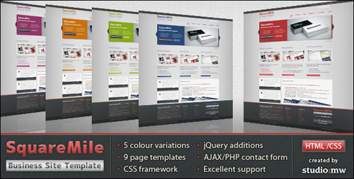 ThemeForest - SquareMile - Business Portfolio HTML Template - RETAIL