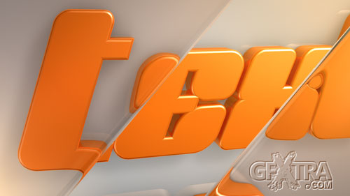 Cinema 4D Project - Text Reflect Intro