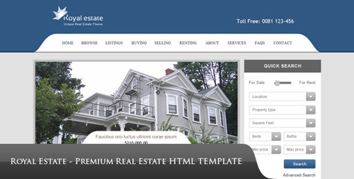 ThemeForest - Royal Estate - Premium Real Estate Theme