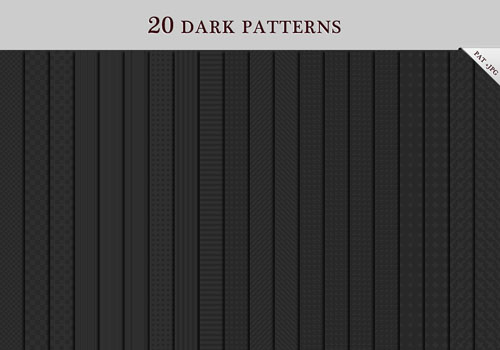 20 Dark Patterns for Photoshop