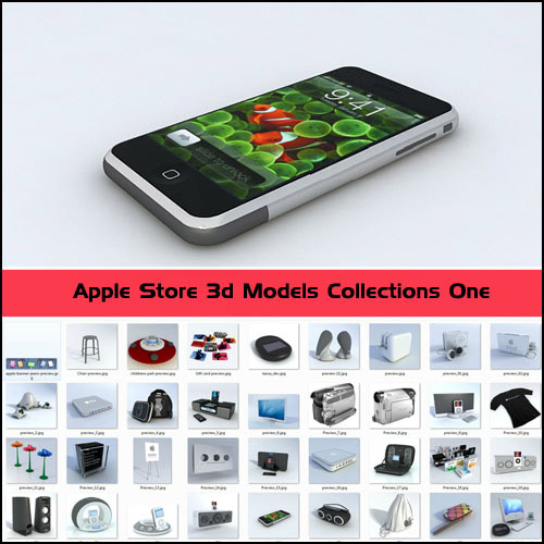 51 High Quality 3D Models of Apple