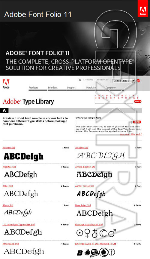 Adobe Font Folio V11 FONT Collection