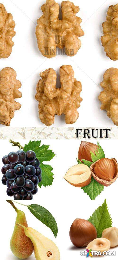 Stock Photo: Fruits and Nuts 5xJPGs