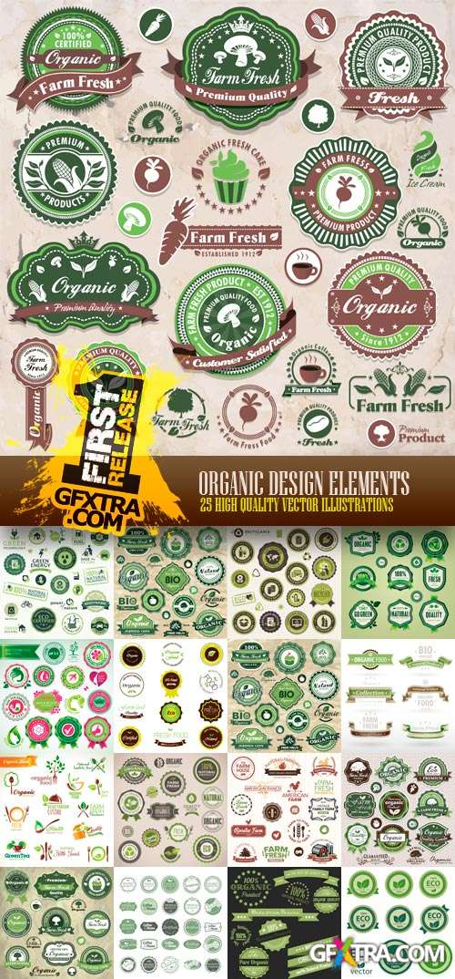 Amazing SS - Organic Design Elements, 25xEPS