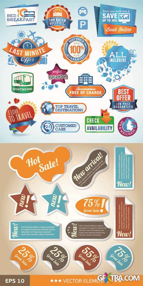 Labels Vector Collection #145