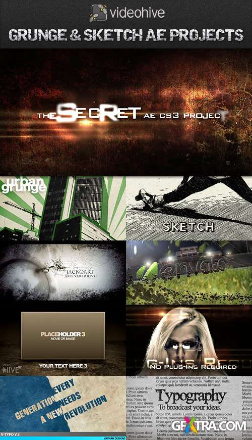 VideoHive After Effects Grunge & Sketch Style Projects