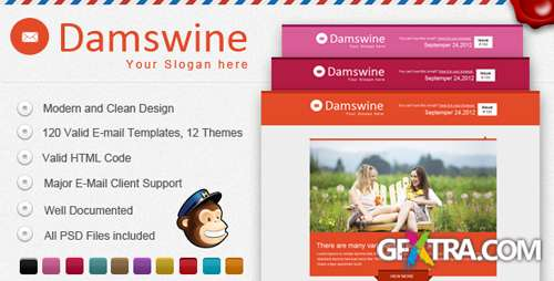 ThemeForest - Damswine E-mail Template - RIP