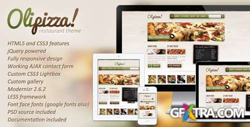ThemeForest - Olipizza - Really tasty HTML5 template - RIP