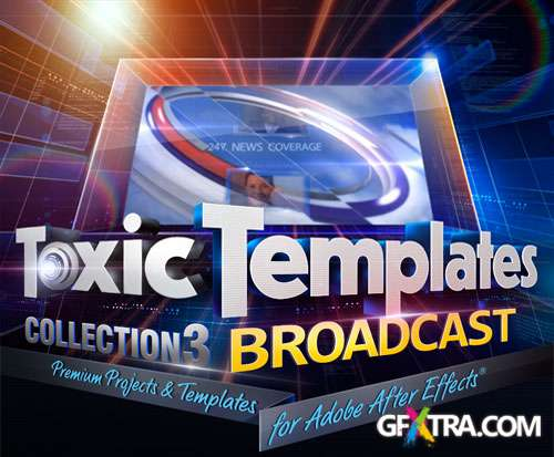 Digital Juice: Toxic Templates Collection 3: Broadcast, AE Projects