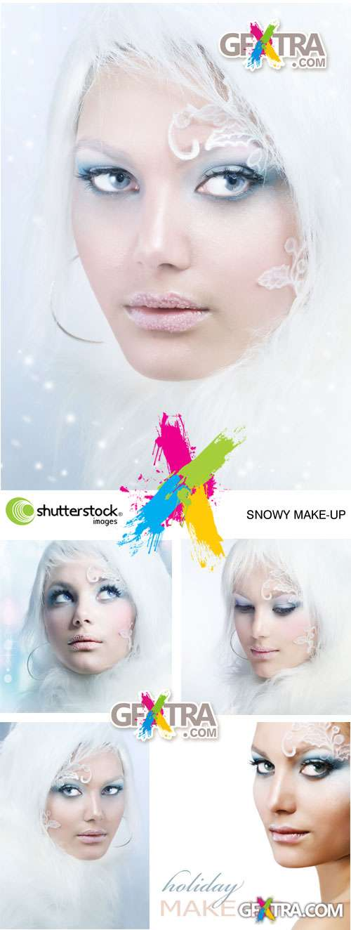 COPYRIGHT! Snowy Make-up 5xJPGs - Shutterstock