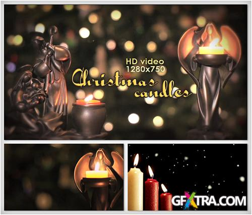 Christmas Candles Footage HD -  - Creative Video Footage For Winter Celebrates