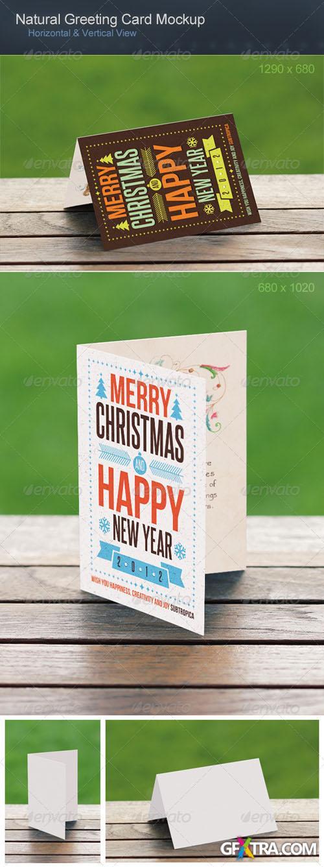 GraphicRiver - Natural Greeting Card Mockup 2769358