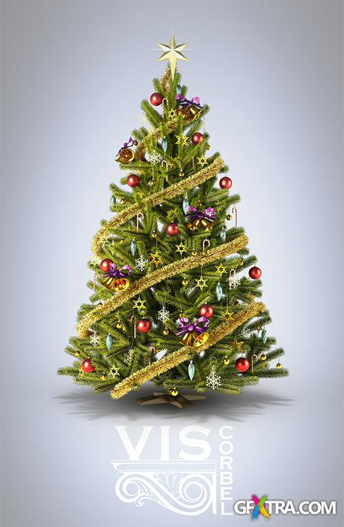 How to make a 3D Christmas Tree in 3ds Max - VisCorbel
