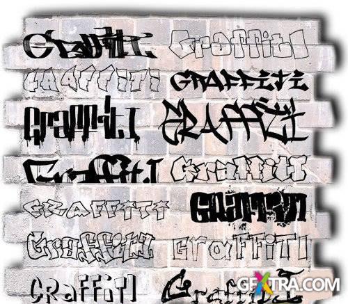 Set of Graffiti Fonts