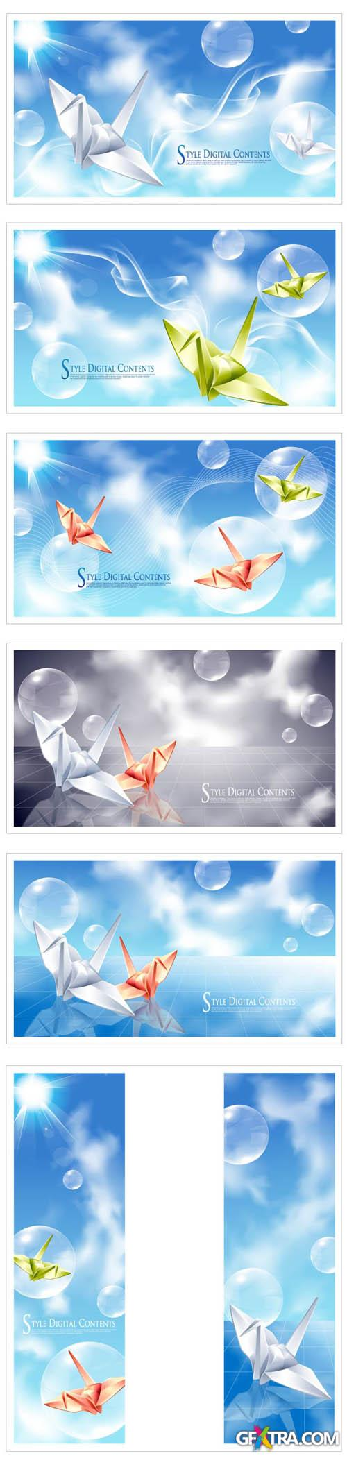 Digital Sky Vector Backgrounds