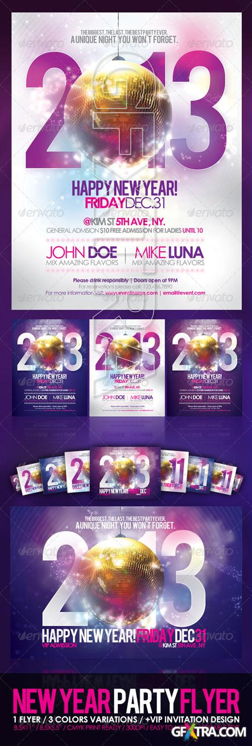 GraphicRiver - Happy New Year Party Flyer