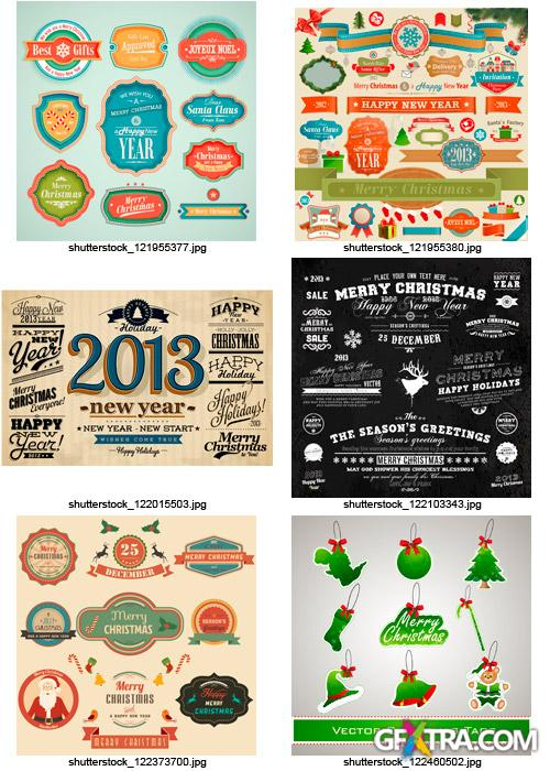 Amazing SS - Christmas Labels & Design Elements 4, 25xEPS