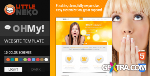 ThemeForest - OHMY! - HTML5, CSS3, Bootstrap website template