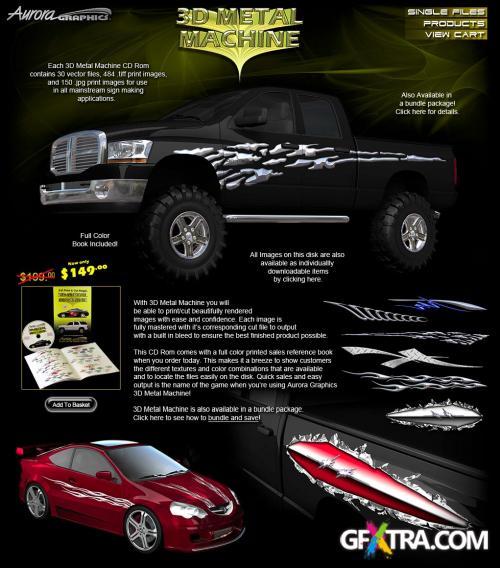 Aurora Graphics - 3D Metal Machine
