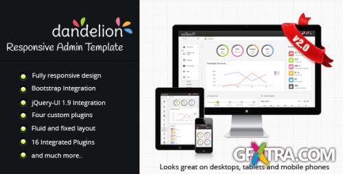 ThemeForest - Dandelion Admin v2.0 - Responsive Admin Template