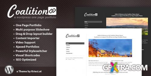 ThemeForest - Coalition v1.4 - One Page WordPress Portfolio