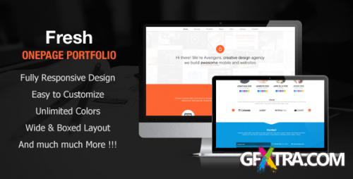 ThemeForest - Fresh - Onepage Portfolio Site Template