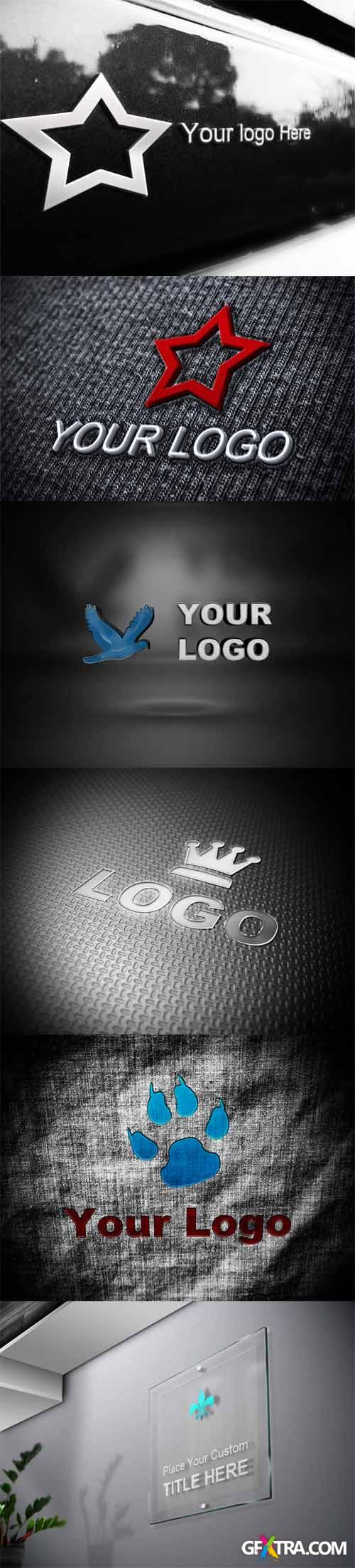 6 Logo Mock-ups PSD