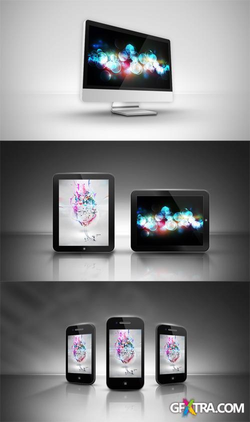 Iphone, Ipad and PC Mock-ups