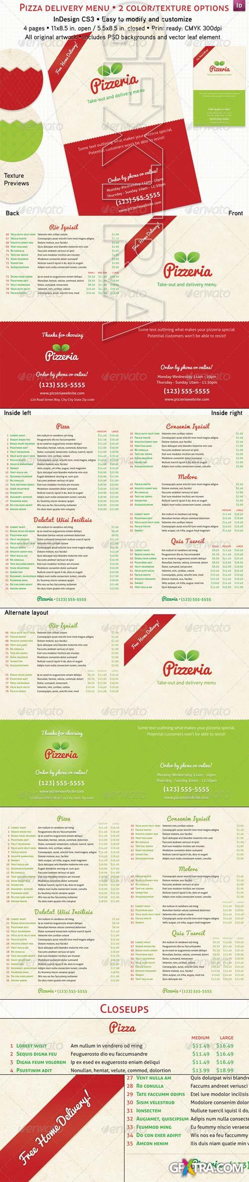 GraphicRiver - 4 Page Pizzeria Menu