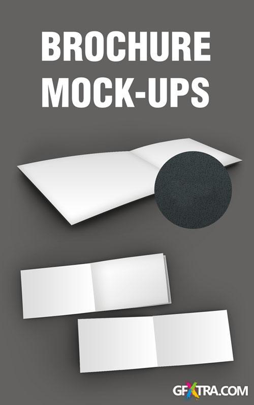 Brochures Mock-ups Smart Object PSD Template