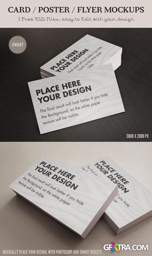 Card Flyer Mock-Ups PSD Template