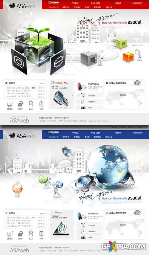 PSD Web Templates - Marketing Technology 1