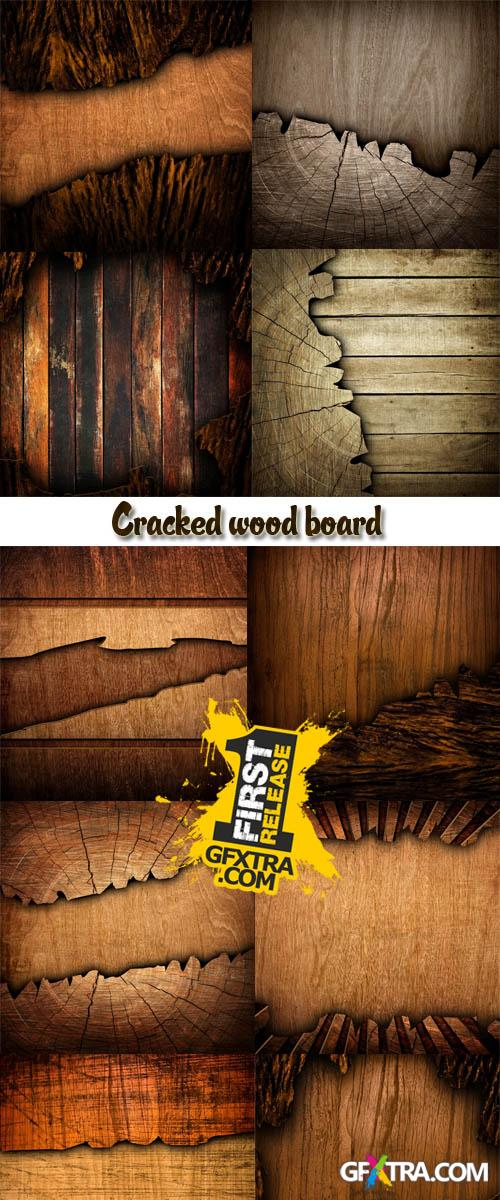 Stock Photo: Cracked wood board