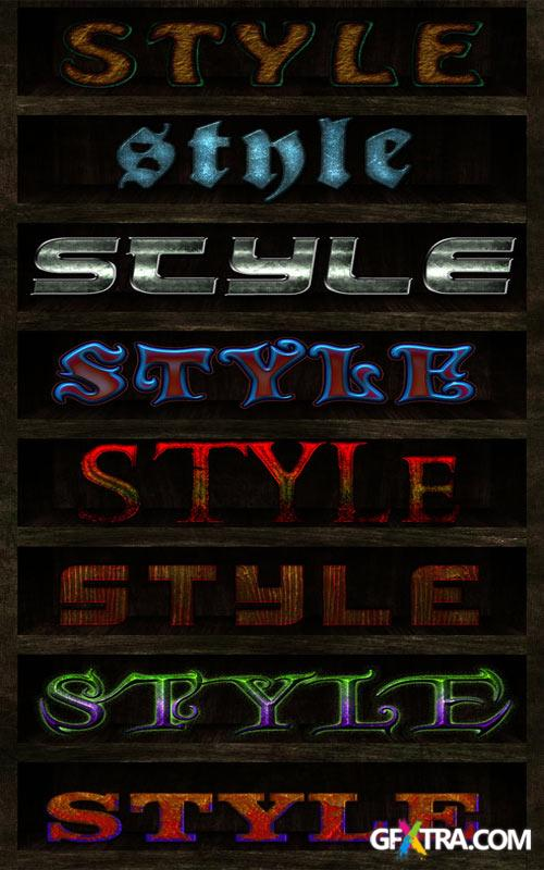 Styles for Photoshop - Text mix 4