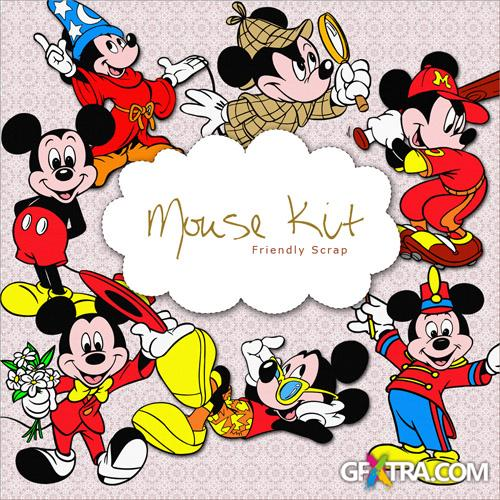 Scrap-kit - Mickey Mouse - loved Hero of the Fairy Tales